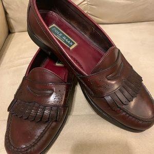 Burgundy Cole Hahn Men's Leather Loafer Shoe